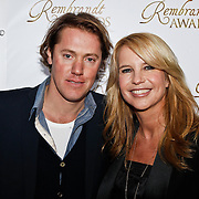 NLD/Amsterdam/20100322 -  Uitreiking Rembrandt Awards 2009, Linda de Mol en partner Jeroen Rietbergen