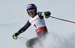 16.02.2017, St. Moritz, SUI, FIS Weltmeisterschaften Ski Alpin, St. Moritz 2017, Riesenslalom, Damen, 2. Lauf, im Bild Tessa Worley (FRA,Damen Riesenslalom Weltmeisterin und Goldmedaille) // ladie's Giant Slalom world Champion and Gold medalist Tessa Worley of France reacts after her 2nd run of ladie's Giant Slalom of the FIS Ski World Championships 2017. St. Moritz, Switzerland on 2017/02/16. EXPA Pictures © 2017, PhotoCredit: EXPA/ Erich Spiess