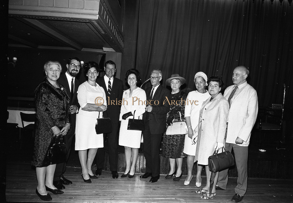 """24/07/1967<br /> 07/24/1967<br /> 24 July 1967<br /> First showing of """"Fleá Cheoil"""" at the Metropole Cinema, Dublin. A presentation was made to the director of the film Mr. Louis Marcus, for winning the Silver Bear Award at the Berlin International Film Festival, by Taoiseach Jack Lynch TD, on behalf of the Cork Film Society, where Mr. Marcus began his carrier. President of the Society Mr. Sean Hendrick attended the presentation."""