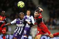 Jeremy Pied / Jean Daniel Akpa Akpro - 20.12.2014 - Toulouse / Guingamp - 19eme journee de Ligue 1 <br />