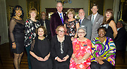 Past presidents of the FQFI Board of Directors; French Quarter Festival gala at Antoine's restaurant on March 15, 2018; photo ©2018, George H. Long