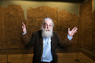 Dr Irving Finkel, curator in charge of cuneiform inscriptions on tablets of clay from ancient Mesopotamia at the British Museum, London, UK.