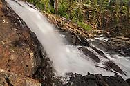 Glen Alpine Falls along Glen Alpine Creek, Eldorado National Forest,  El Dorado County, near South Lake Tahoe, California