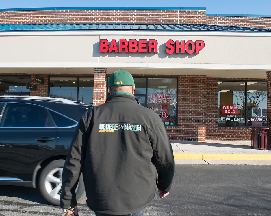 December 5, 2015 - Fairfax, VA - A day in the life of &quot;Doc Nix,&quot; aka Dr. Michael Nickens, the Director of the Athletic Bands for George Mason University. Here he is enroute to get his hair cut at a local hair stylist in Fairfax.<br /> <br /> <br /> Photo by Susana Raab