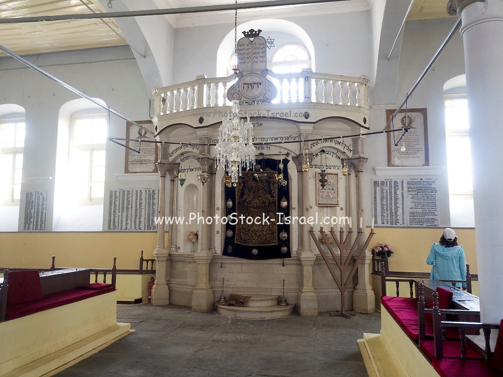 Interior of the Old Synagogue with the Torah Ark in the centre. Ioannina, Epirus, Greece