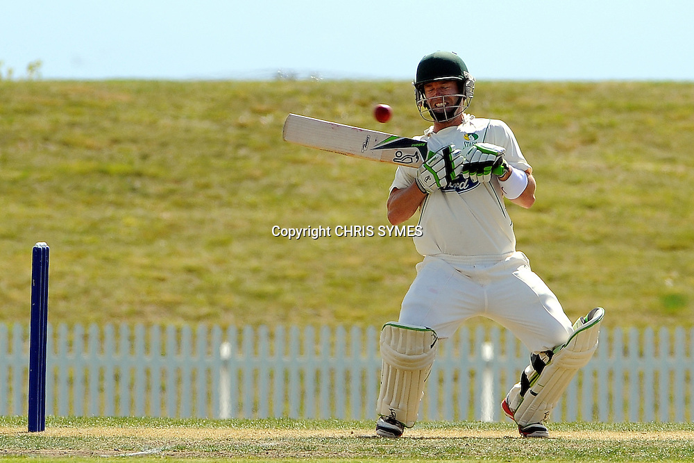 Stags Carl Cachopa during Day two of the Plunket Shield cricket - Canterbury Wizards v Central Stags at Saxton Oval, Nelson, New Zealand. Saturday 10 March 2012. Photo: Chris Symes/www.photosport.co.nz