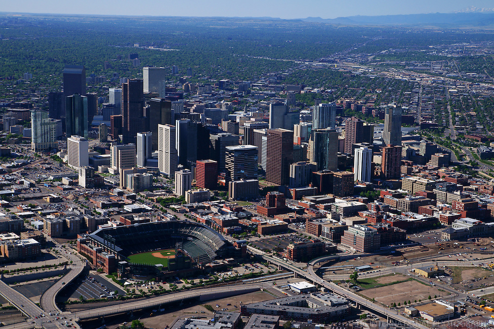 Aerial View Downtown Denver Amp Coors Field Tia