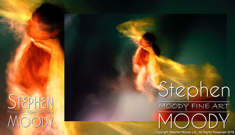 Angel Light - Abstract Art of the Male Form created by artist Stephen Moody of Scottsdale, AZ.  Large wall art for businesses, hospitality industry, interior designers and individual collectors.