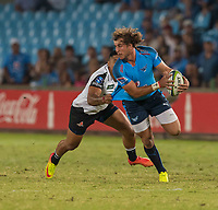 PRETORIA, SOUTH ARICA - MARCH 17: Burger Odendaal of the Vodacom Bulls on attack during the Super Rugby match between Vodacom Bulls and Sunwolves at Loftus Versfeld on March 17, 2017 in Pretoria, South Africa. (Photo by Anton Geyser/Gallo Images)