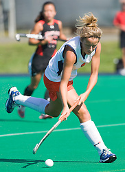 Virginia Cavaliers midfielder Haley Carpenter (3) in action against UMD.  The #1 ranked Maryland Terrapins defeated the #10 ranked Virginia Cavaliers 4-3 in overtime in NCAA Field Hockey at the Turf Field on the Grounds of the University of Virginia in Charlottesville, VA on October 4, 2008.