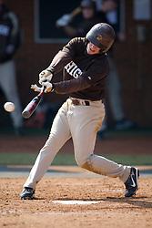 Lehigh outfielder Joe Ercolano (14).  The #17 ranked Virginia Cavaliers baseball team defeated the Lehigh Mountain Hawks 12-1 at the University of Virginia's Davenport Field in Charlottesville, VA on February 24, 2008.
