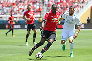 Manchester United Defender Eric Bailly holds off Real Madrid Forward Karim Benzema during the AON Tour 2017 match between Real Madrid and Manchester United at the Levi's Stadium, Santa Clara, USA on 23 July 2017.