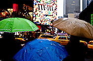 New York Times square in the rain.