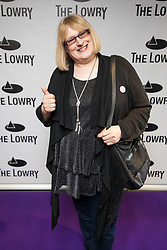 © Licensed to London News Pictures . 30/08/2017 . Salford , UK . Annie Wallace . Purple carpet photos of celebrities, actors and invited guests arriving for the press night of the musical comedy , Addams Family , at the Lowry Theatre . Photo credit : Joel Goodman/LNP