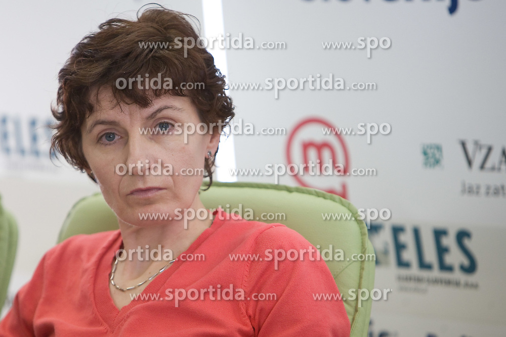 Helena Javornik at press conference after athlete H.Javornik accused by CAS because of positive doping test and forbidden to compete for 2 years long, on March 18, 2009, in AZS, Ljubljana, Slovenia. (Photo by Vid Ponikvar / Sportida)