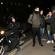 Only four opposition support shouting slogan during the protest to Reject imperialist coup in Venezuel and the Venezuela patriots and supporters shout back you tratior opposite Downing Street, on 28 January 2019, London, UK.