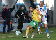 Huddersfield - Saturday, March 13th, 2010: Daniel Drinkwater of Huddersfield Town in action against Korey Smith of Norwich City during the Coca Cola League One match at the Galpharm Stadium, Huddersfield. (Pic by Michael Sedgwick/Focus Images)