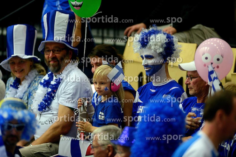 21-09-2013 VOLLEYBAL: EK MANNEN SLOVENIE - FINLAND: HERNING<br /> Support publiek Finland<br /> &copy;2013-FotoHoogendoorn.nl<br />  / SPORTIDA