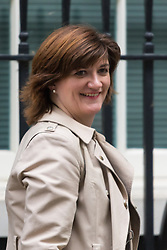 Downing Street, London, October 20th 2015.  Education Secretary Nicky Morgan  leaves 10 Downing Street after attending the weekly cabinet meeting