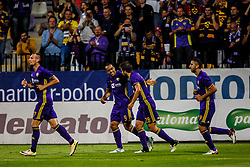 Jasmin Mesanovic #27 of NK Maribor, Marcos Morales Tavares #9 of NK Maribor, Mitja Viler #28 of NK Maribor, Marwan Kabha #8 of NK Maribor celebrate during 1st Leg football match between NK Maribor (SLO) and FH Hafnarfjordur (ISL) in Third qualifying round of UEFA Champions League 2017/18, July 26, 2017, in Stadium Ljudski vrt, Maribor, Slovenia. Photo by Grega Valancic / Sportida
