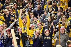 Jan 27, 2018; Morgantown, WV, USA; West Virginia students cheer while ESPN College Gameday on set before the Big 12/SEC challenge game between West Virginia and Kentucky at WVU Coliseum. Mandatory Credit: Ben Queen-USA TODAY Sports