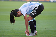 MELBOURNE, VIC - MARCH 06: Eliana Stabile (3) of Argentina checks her foot during The Cup of Nations womens soccer match between Australia and Argentina on March 06, 2019 at AAMI Park, VIC. (Photo by Speed Media/Icon Sportswire)