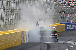 May 26, 2018 - Concord, North Carolina, United States of America - Brad Keselowski (22) celebrates with a burnout after winning the Alsco 300 at Charlotte Motor Speedway in Concord, North Carolina. (Credit Image: © Chris Owens Asp Inc/ASP via ZUMA Wire)