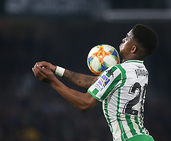 February 7, 2019 - Seville, Spain - HECTOR JUNIOR FIRPO ADAMÉS  during the Spanish Copa del Rey (King's Cup) semi-final first leg football match between Real Betis and Valencia CF at the Benito Villamarin stadium in Seville on February 7, 2019. (Credit Image: © Raddad Jebarah/NurPhoto via ZUMA Press)