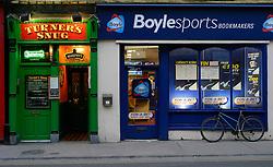 IRELAND KERRY TRALEE 3FEB06 - Traditional Irish pub next to betting shop in Tralee, Co. Kerry.. . jre/Photo by Jiri Rezac. . © Jiri Rezac 2006. . Contact: +44 (0) 7050 110 417. Mobile:  +44 (0) 7801 337 683. Office:  +44 (0) 20 8968 9635. . Email:   jiri@jirirezac.com. Web:    www.jirirezac.com. . © All images Jiri Rezac 2006 - All rights reserved.