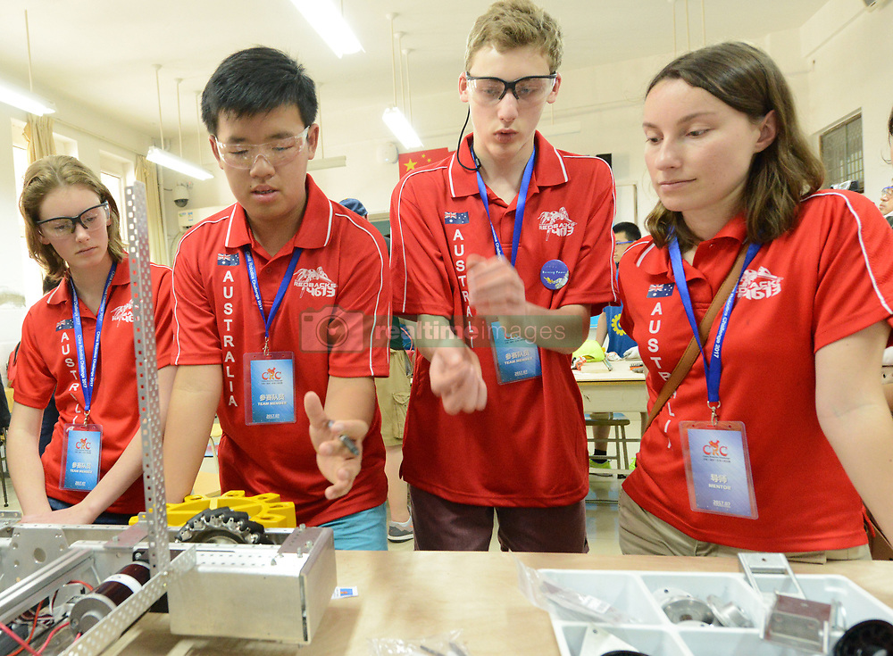July 20, 2017 - Zhengzhou, Zhengzhou, China - Zhengzhou, CHINA-July 20 2017: (EDITORIAL USE ONLY. CHINA OUT) ..The China Robotics Challenge is held in Zhengzhou, central China's Henan Province, July 21st, 2017. About 80 teams from China and other countries including winners of FIRST Robotics Competition £¨FRC£©attend the event. (Credit Image: © SIPA Asia via ZUMA Wire)