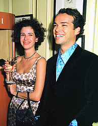 MISS MOLLY DENT-BROCKLEHURST and her brother MR HENRY DENT-BROCKLEHURST, at a party in London on 4th February 1999.MNY 62