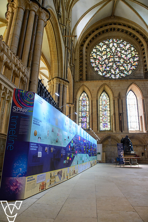 Preparations for the SPARK! Engineering Festival 2017 have been taking place in Lincoln Cathedral.  The event, which is a celebration of engineering takes place between May 5 and May 7, 2017.<br /> <br /> Picture: Chris Vaughan Photography<br /> Date: May 4, 2017