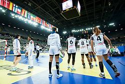 17-12-2014 CRO: EHF EK Nederland - Frankrijk, Zagreb<br /> Players of France before handball match between Netherlands and France at 11th EHF European Women's Handball Championship Hungary-Croatia 2014<br /> <br /> *** USE NETHERLANDS ONLY ***