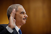 Attorney General ERIC HOLDER testifies before the Senate Judiciary Committee on Capitol Hill on Tuesday. Holder admitted mistakes in the gun-trafficking investigat ion known as Fast and Furious. Holder is under pressure from Republican lawmakers over tactics used by Bureau of Alcohol, Tobacco, Firearms and Explosives agents in Phoenix that allowed suspected traffickers to buy about 2,000 firearms in the U.S. to smuggle to Mexico.