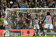 Reading defender (on loan from Chelsea) Matt Miazga (5)  heads the ball  on his goal line during the EFL Sky Bet Championship match between West Bromwich Albion and Reading at The Hawthorns, West Bromwich, England on 21 August 2019.