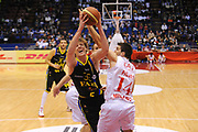 DESCRIZIONE : Milano Lega A 2011-12 EA7 Emporio Armani Milano Fabi Shoes Montegranaro<br /> GIOCATORE : Coby Karl<br /> CATEGORIA : Tiro Penetrazione<br /> SQUADRA : Fabi Shoes Montegranaro<br /> EVENTO : Campionato Lega A 2011-2012<br /> GARA : EA7 Emporio Armani Milano Fabi Shoes Montegranaro<br /> DATA : 17/12/2011<br /> SPORT : Pallacanestro<br /> AUTORE : Agenzia Ciamillo-Castoria/A.Dealberto<br /> Galleria : Lega Basket A 2011-2012<br /> Fotonotizia : Milano Lega A 2011-12 EA7 Emporio Armani Milano Fabi Shoes Montegranaro<br /> Predefinita :