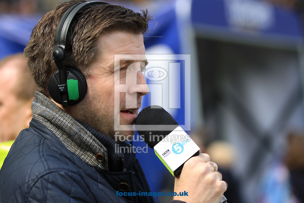 Picture by Richard Gould/Focus Images Ltd +44 7855 403186.04/05/2013.Mark Chapman reporting for BBC Radio 5live during the npower Championship match at the KC Stadium, Kingston upon Hull.