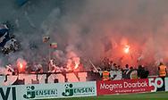 FC København fans med romerlys under kampen i 3F Superligaen mellem FC København og AGF den 19. juli 2019 i Telia Parken (Foto: Claus Birch).