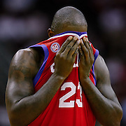 Dec 19, 2012; Houston, TX, USA; Philadelphia 76ers shooting guard Jason Richardson (23) reacts to a call against the Houston Rockets during the fourth quarter at the Toyota Center. The Rockets won 125-103. Mandatory Credit: Thomas Campbell-USA TODAY Sports