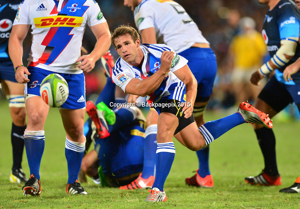 Nic Groom of the Stormers during the 2015 Super Rugby rugby match between the Bulls and the Stormers at Loftus Versfeld in Pretoria, South Africa on February 14, 2015 ©Barry Aldworth/BackpagePix