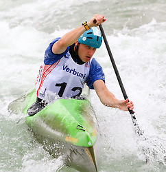 27.06.2015, Verbund Wasserarena, Wien, AUT, ICF, Kanu Wildwasser Weltmeisterschaft 2015, C1 men, im Bild Martin Medved (SVK) // during the final run in the men's C1 class of the ICF Wildwater Canoeing Sprint World Championships at the Verbund Wasserarena in Wien, Austria on 2015/06/27. EXPA Pictures © 2014, PhotoCredit: EXPA/ Sebastian Pucher