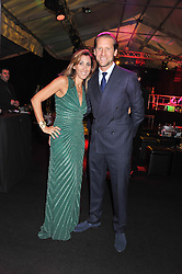 JAKE PARKINSON-SMITH and his wife SAMIRA at a party to celebrate the launch of the new 2&8 club at Morton's Berkeley Square, London on 27th September 2012.
