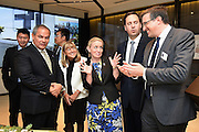 GOLD COAST, AUSTRALIA - JULY 29:  (L-R) Gold Coast Mayor Tom Tate, Gold Coast Deputy Mayor Doona Gates, Steven Ciobo and Michael Purefoy attend the Wanda Ridong Gold Coast Jewel immersive experience centre at the Hilton Hotel on July 29, 2015 on the Gold Coast, Australia.  (Photo by Matt Roberts/Getty Images for Wanda Ridong)