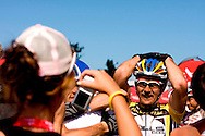 Oak Valley ( Elgin / Grabouw ), SOUTH AFRICA - Karl Platt ecstatic at the overll win of the Absa Cape Epic 2009 during the final stage stage seven , 7 , of the Absa Cape Epic Mountain Bike Stage Race between Oak Valley ( Elgin / Grabouw ) and Lourensford on the 28 March 2009 in the Western Cape, South Africa..Photo by Karin Schermbrucker  /SPORTZPICS
