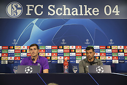 September 17, 2018 - Na - Gelsenkirchen, 17/09/2018 - Press conference of Sergio Conceição and Iker Casillas, coach and player of Fc Porto, in the preview of the game against FC Schalke 04, for the Champions League. (Credit Image: © Atlantico Press via ZUMA Wire)