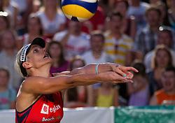 Andreja Vodeb during women final match of Slovenian National Championship in beach volleyball Kranj 2012, on June 30, 2012 in Kranj, Slovenia. (Photo by Vid Ponikvar / Sportida.com)