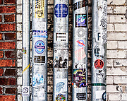 Street vignettes along Greene St., outside Papa Jazz Record Shoppe near the University of South Carolina in Columbia.