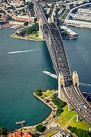 Sydney Harbour Bridge, Overhead