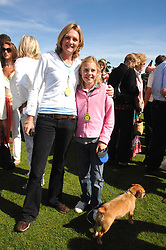 LADY LLOYD-WEBBER and her daughter ISABELLA at the final of the Veuve Clicquot Gold Cup 2007 at Cowdray Park, West Sussex on 22nd July 2007.<br />