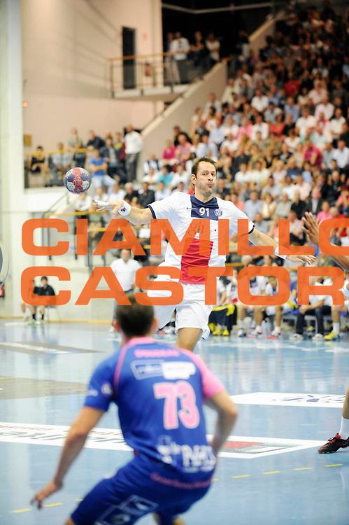 DESCRIZIONE : Handball Homme D1 Championnat de France<br /> GIOCATORE : Bojinovic Mladen<br /> SQUADRA : Paris<br /> EVENTO : D1<br /> GARA : Cesson Paris<br /> DATA : 25 09 2013<br /> CATEGORIA : Handball Homme<br /> SPORT : Handball<br /> AUTORE : JF Molliere <br /> GALLERIA : France Hand 2013-2014 Action<br /> FOTONOZIA : Hand <br /> Predefinita :